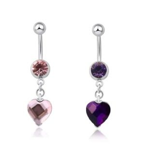 Jewelry - 🎀3/$22🎀 Rhinestone Heart Belly Rings